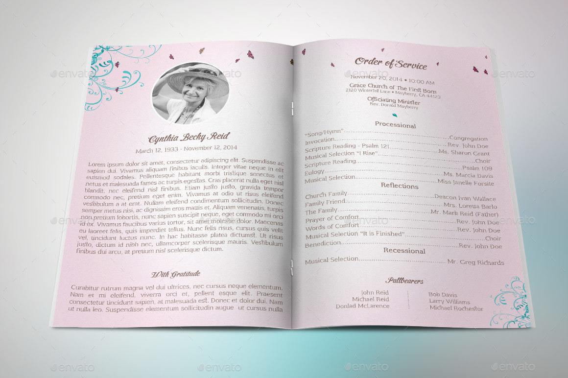 Preview Image Set/Florish Funeral Program Template Set 1 ...
