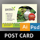 Gardening Post Card