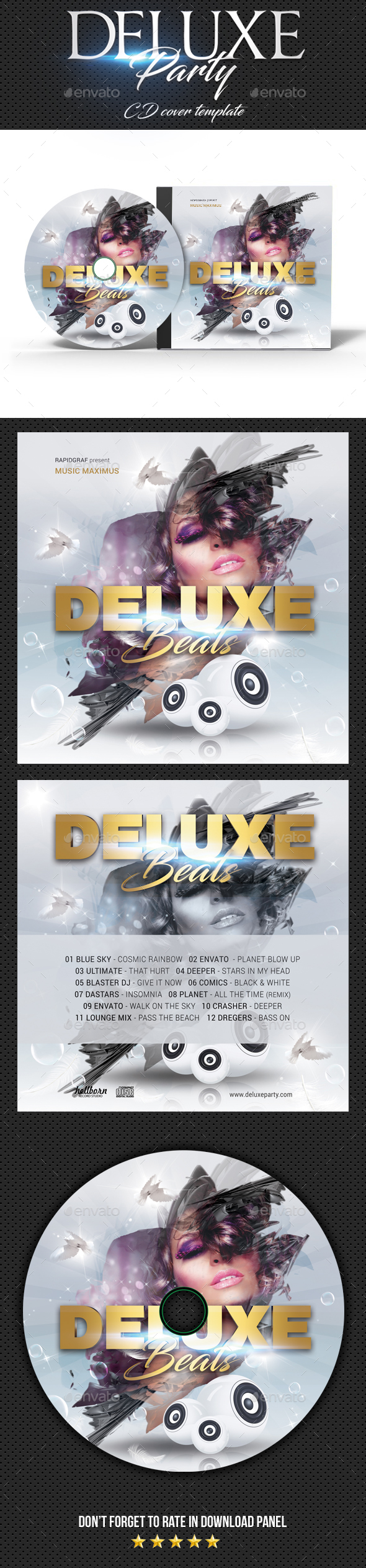 GraphicRiver Deluxe Dj Party CD Cover 2 20352855