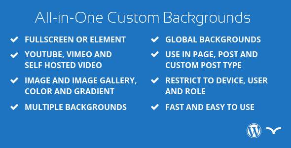 All-in-One Custom Background for WordPress - CodeCanyon Item for Sale