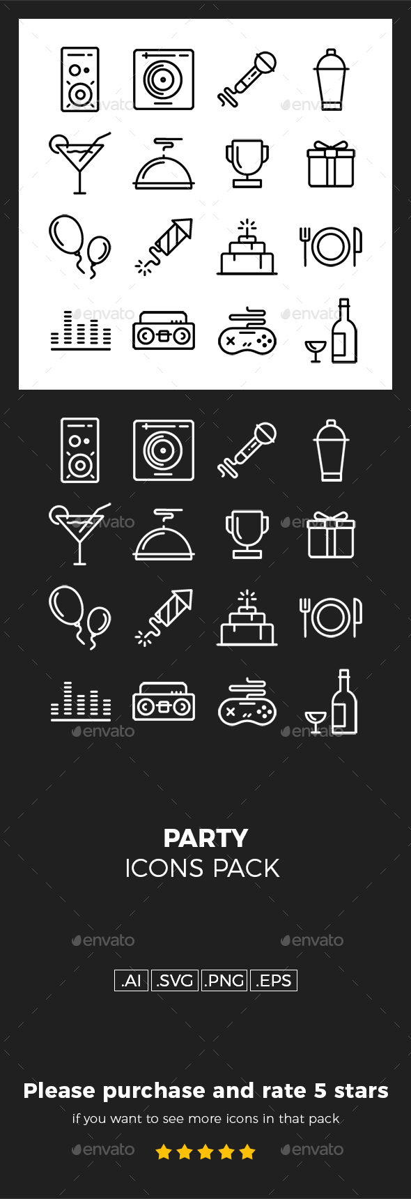 Party Icons Pack - Icons