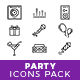 Party Icons Pack - GraphicRiver Item for Sale