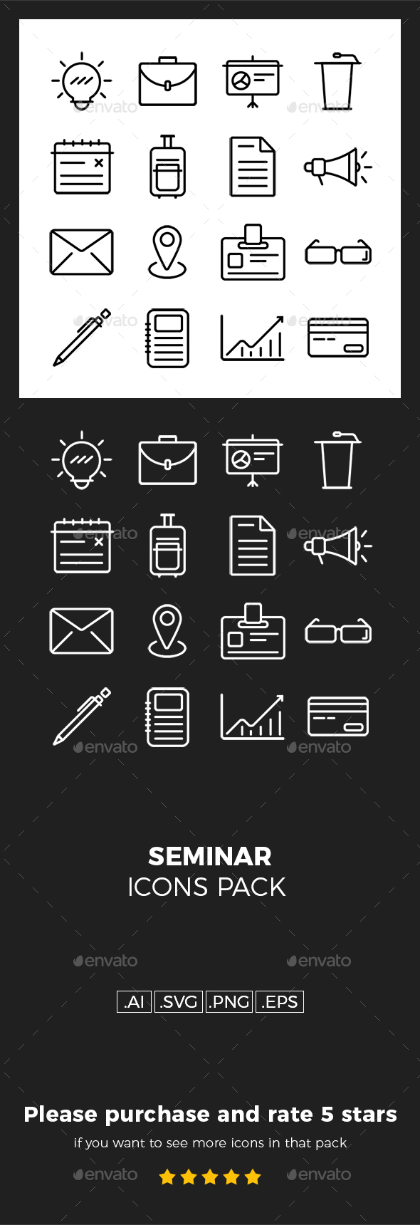 GraphicRiver Seminar Icons Pack 20352978