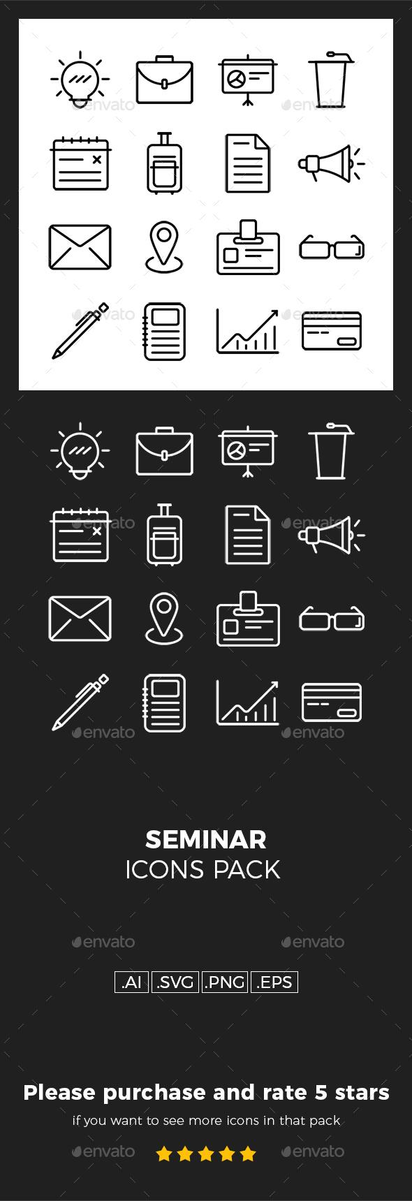 Seminar Icons Pack - Icons