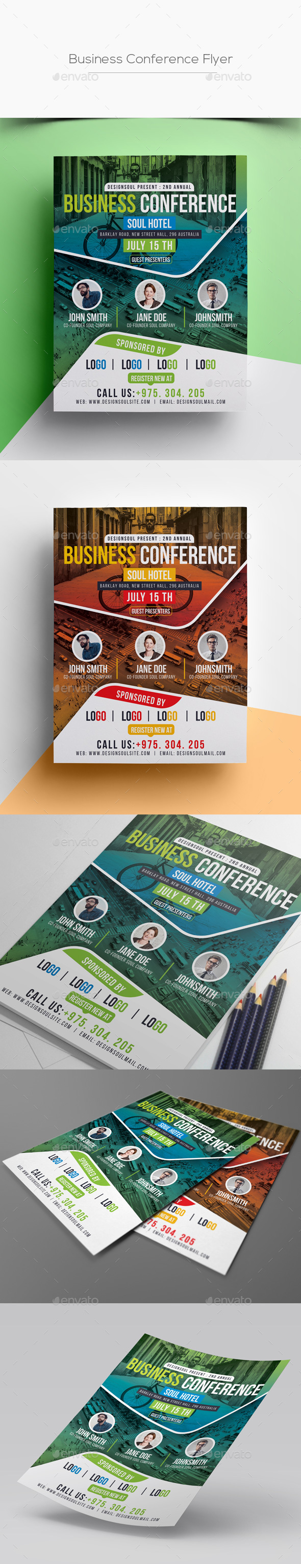 GraphicRiver Business Conference Flyer 20353106