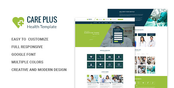 Health CarePlus - Medical And Health Template - Health & Beauty Retail