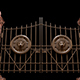 Metal Gate With a Lion Image - VideoHive Item for Sale