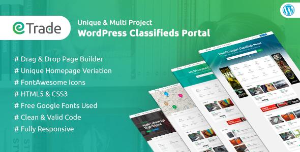 Trade - Modern Classified Ads WordPress Theme