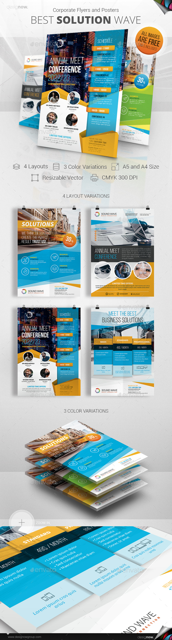 Flyer and Poster - Best Solutions - Corporate Flyers