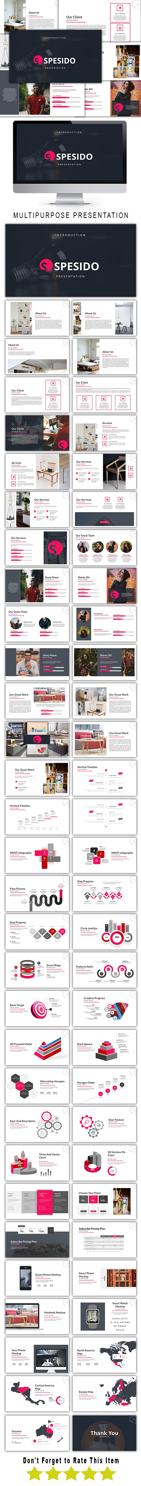 Spesido Multipurpose Powerpoint Template - PowerPoint Templates Presentation Templates