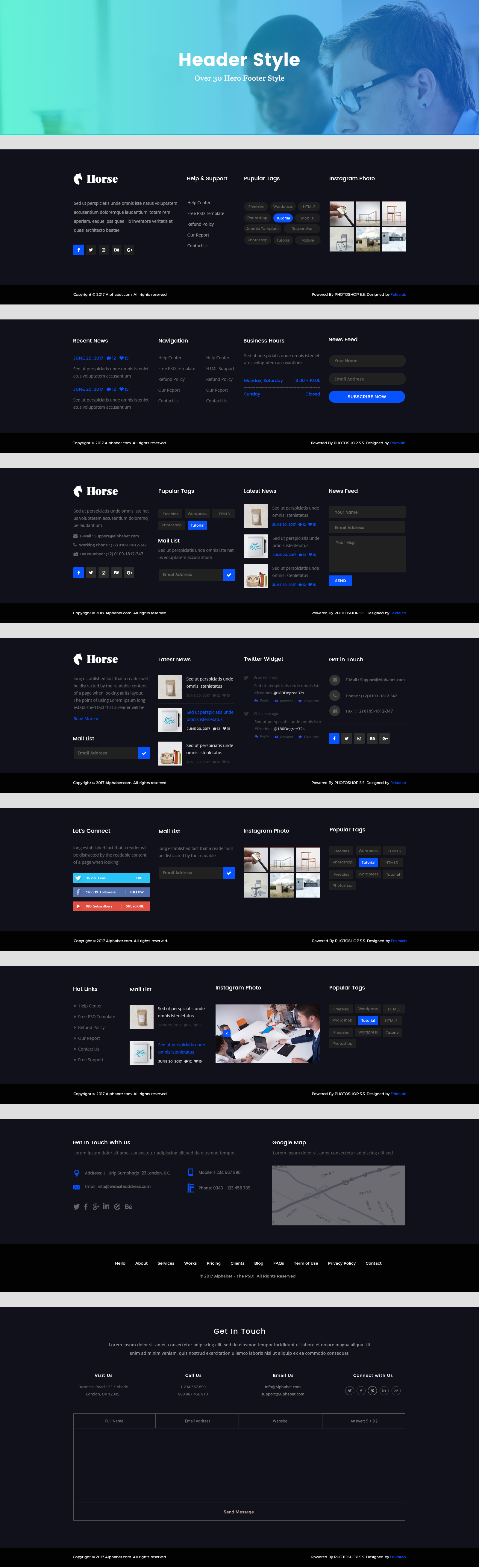 Horse - Business PSD Template by Fekralab | ThemeForest