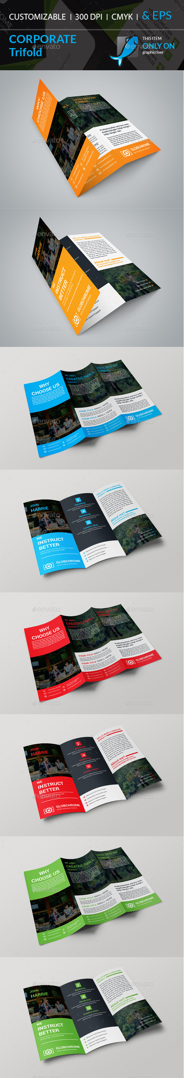 GraphicRiver Corporate Trifold Brochure 20353474