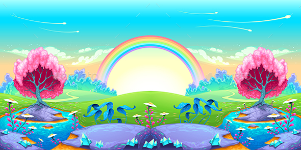 GraphicRiver Landscape of Dreams with Rainbow 20353481