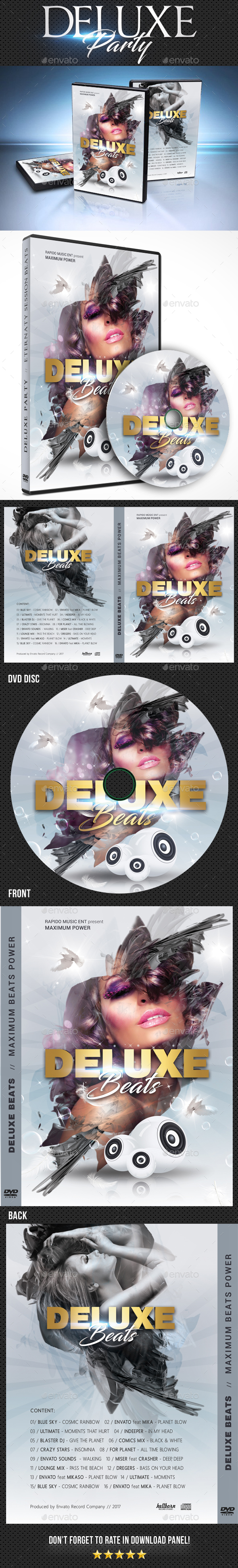 Deluxe Dj Party DVD Cover Template 2 - CD & DVD Artwork Print Templates