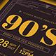 90's Music Flyer