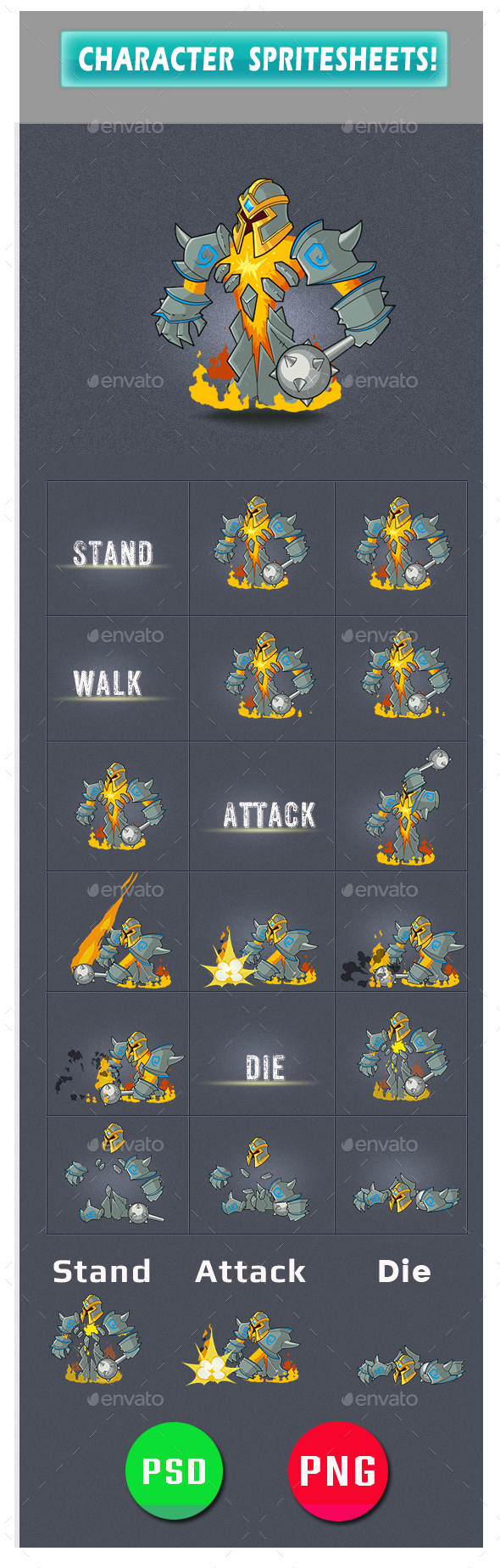 Enemy Game Assets Boss - Sprites Game Assets