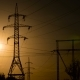 High-voltage Power Lines at Sunset - VideoHive Item for Sale