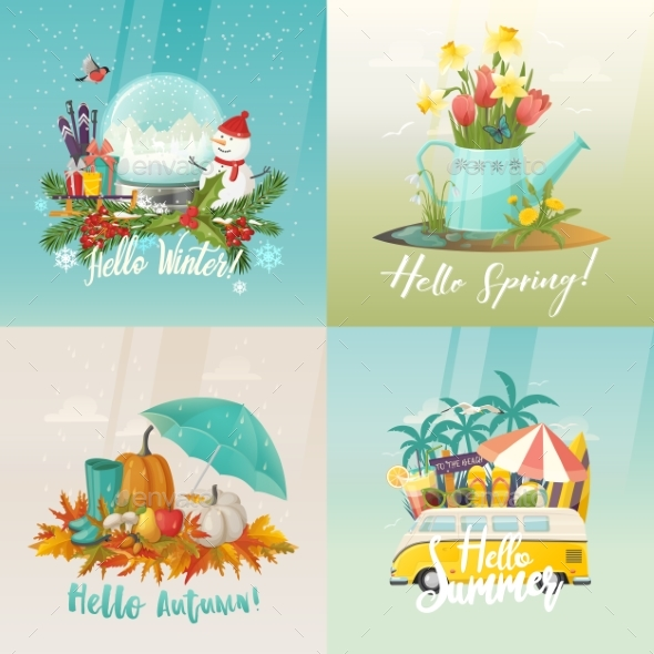 GraphicRiver Seasons Signs 20353631