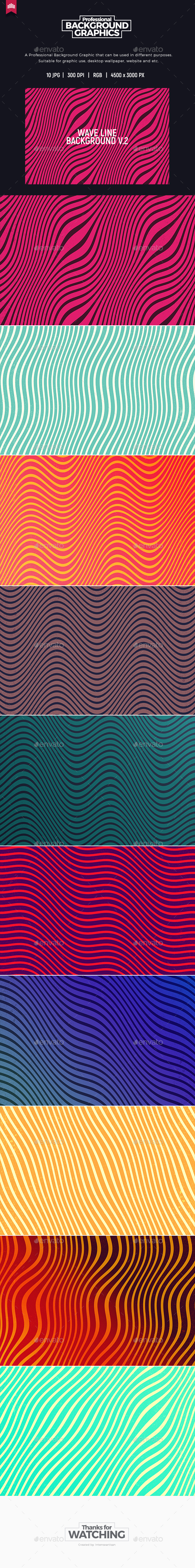 Wave Line V.2 - Background - Abstract Backgrounds