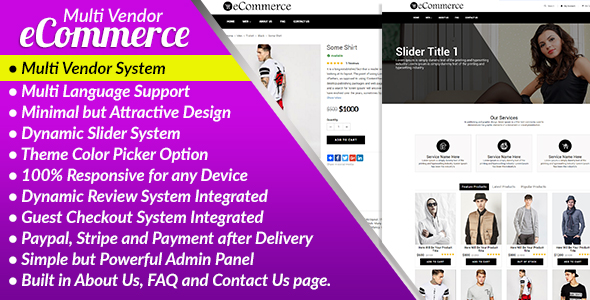 CodeCanyon E-Commerce PRO Multi Vendor Ecommerce Business Management System 20353772