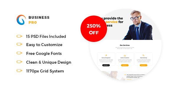 Business Pro - Business, Consultation & Finance PSD Template