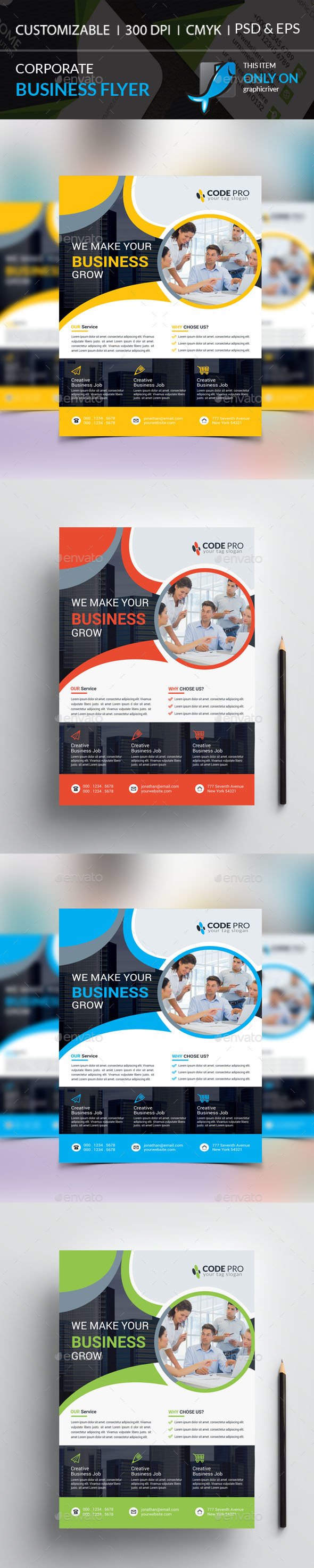 GraphicRiver Corporate Flyer 20353928