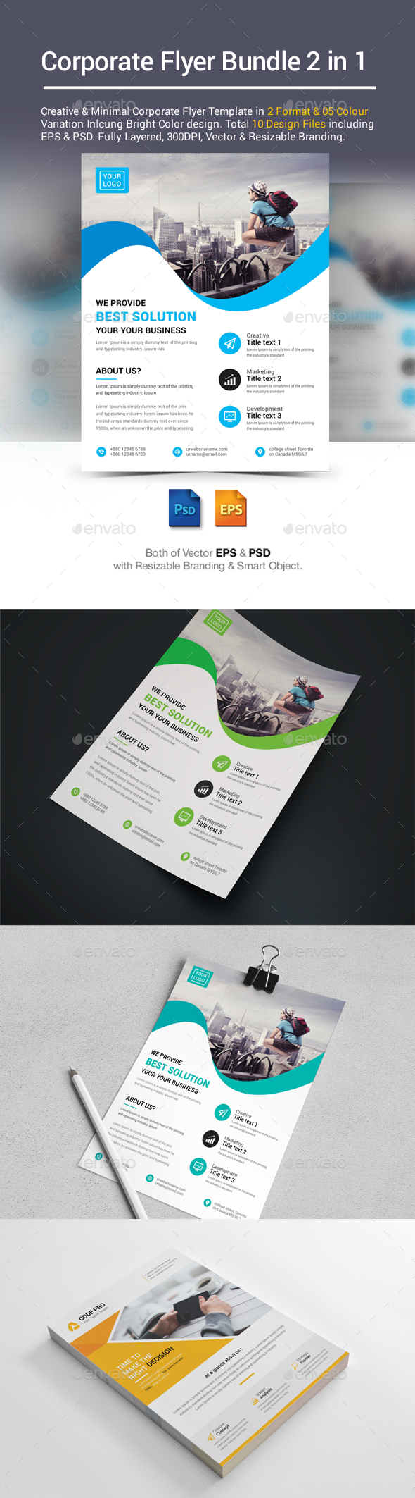 Corporate Business Flyer Bundle 2 in 1 - Corporate Flyers