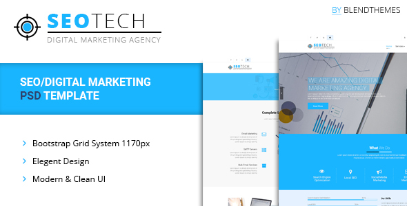SEOTECH - SEO / Digital Marketing PSD Template - Technology PSD Templates
