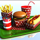 Cartoon Fast Food