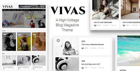Vivas Multipurpose Blog Magazine WordPress Theme