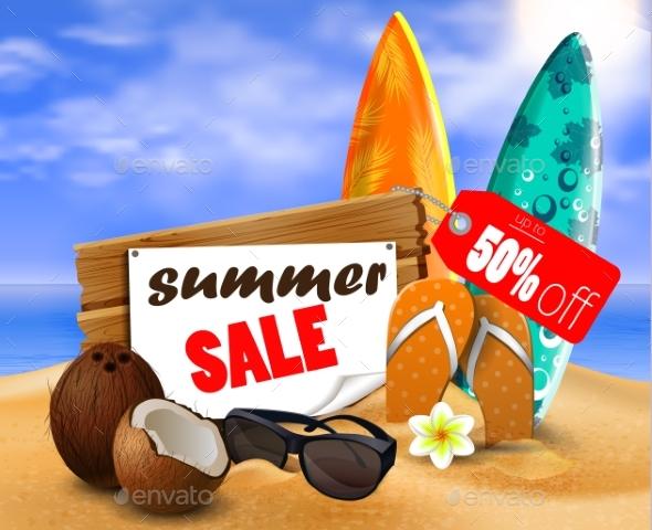 GraphicRiver Summer Sale Banner Online Shopping 20354242
