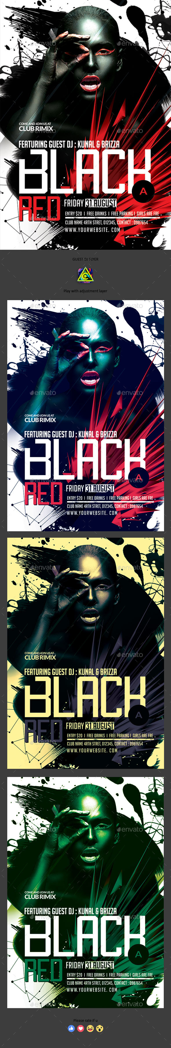 GraphicRiver Black & Red Flyer 20354490