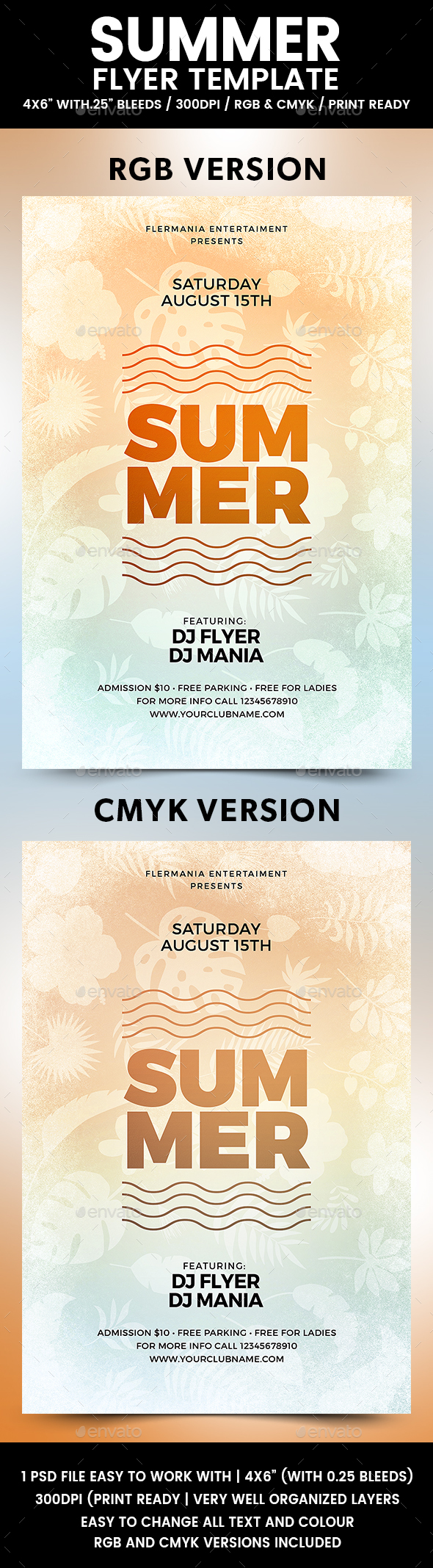 Summer Flyer Template - Flyers Print Templates