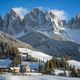 Small village in the snow in the Dolomites in winter - PhotoDune Item for Sale