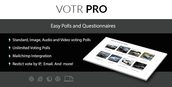 Votr Pro - Easy WordPress Vote Poll Plugin - CodeCanyon Item for Sale