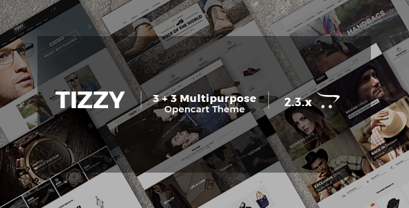 Image of Tizzy - Multipurpose Responsive | Fashion | Watch | Bag | Shoes | Hat And Sunglasses Opencart Theme