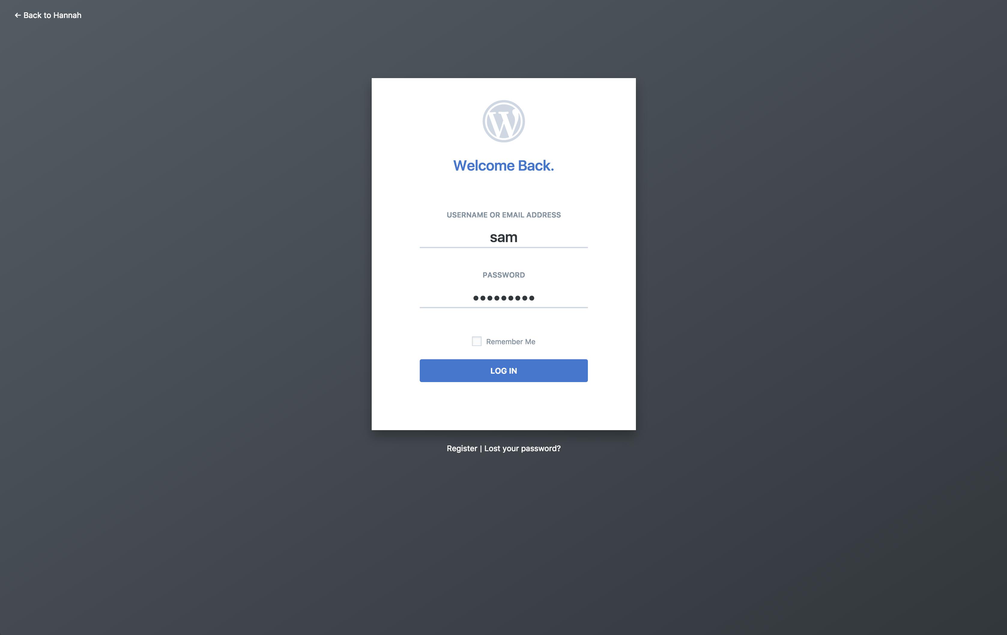 Wp Login: A Clean And Modern WordPress Admin