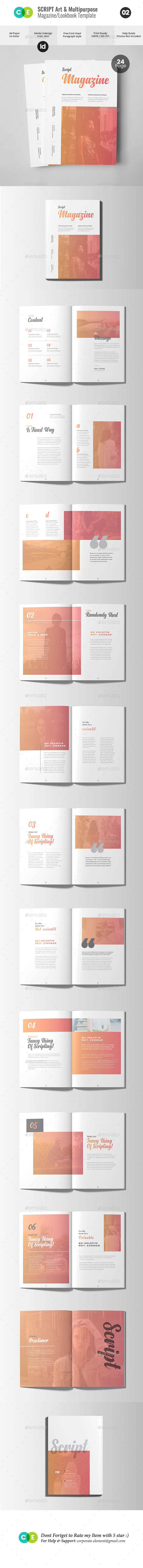 SCRIPT | The Magazine Lookbook V02 - Magazines Print Templates