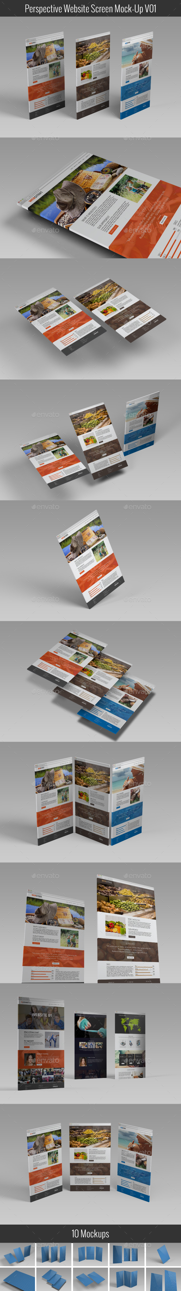 Perspective Website Screen Mock-Up V01 - Website Displays