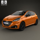 Peugeot 208 5-door with HQ interior 2015 - 3DOcean Item for Sale