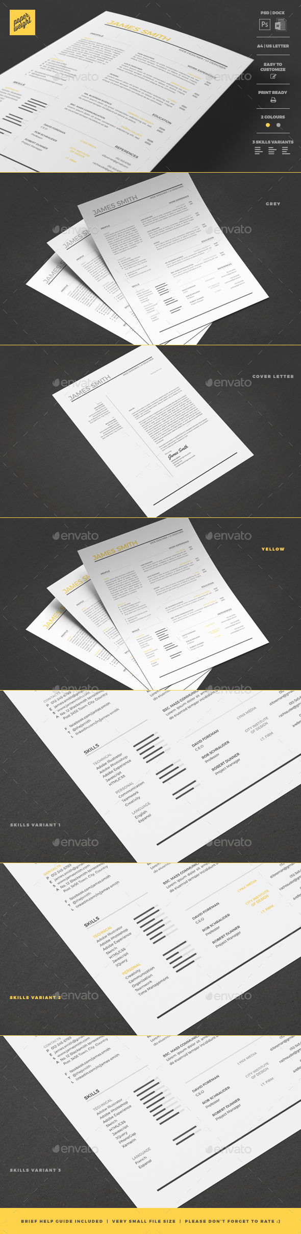 GraphicRiver Resume 20355939
