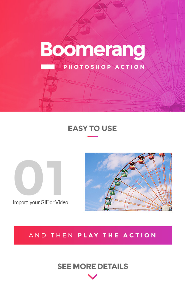 Boomerang Photoshop Action - Photo Effects Actions
