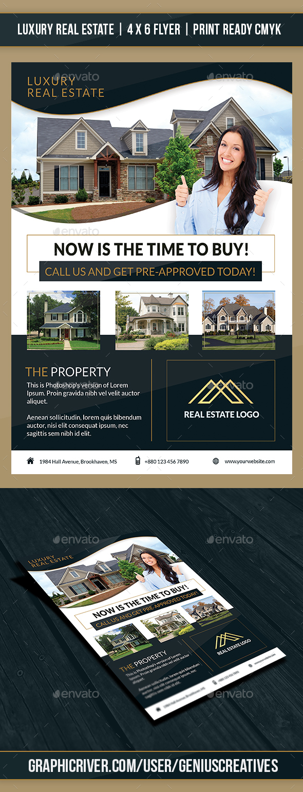 Luxury Real Estate Flyer Template - Corporate Flyers