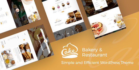 Cake - Easy Slight Bakery & Backing Theme - Food Retail