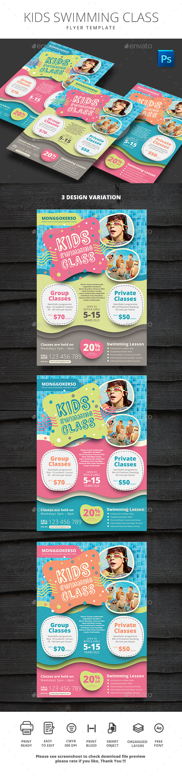 GraphicRiver Kids Swimming Class 20356693