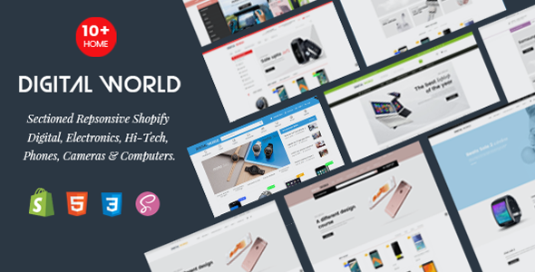 Digital World - Sectioned Responsive Shopify Theme for Digital, Electronics & Hi-Tech Store