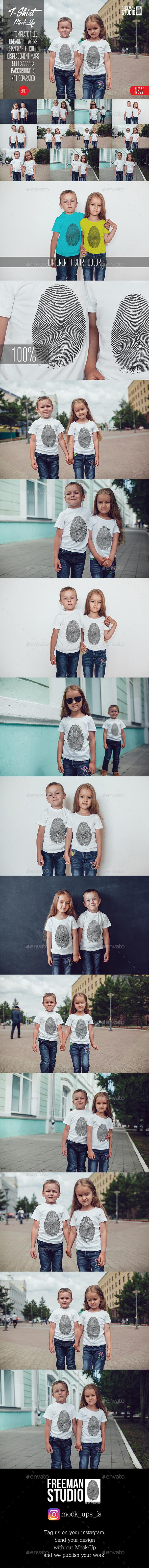 Kids T-Shirt Mock-Up Vol.7 2017 - Product Mock-Ups Graphics