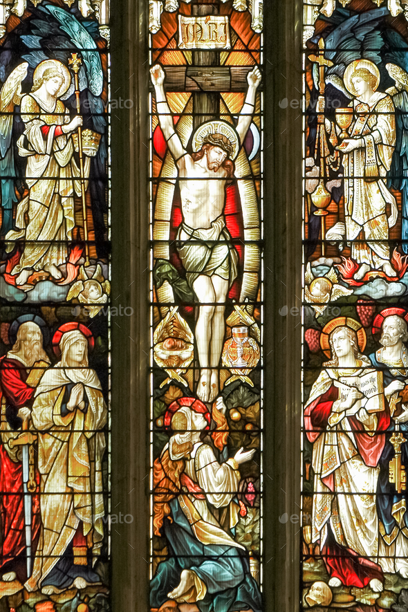 stained glass window - Stock Photo - Images