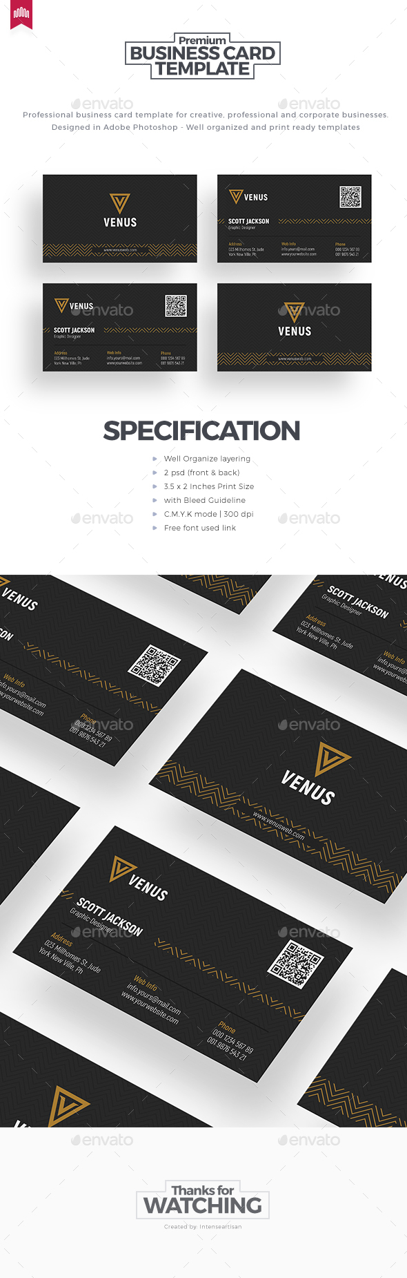 Business Card - Template - Corporate Business Cards