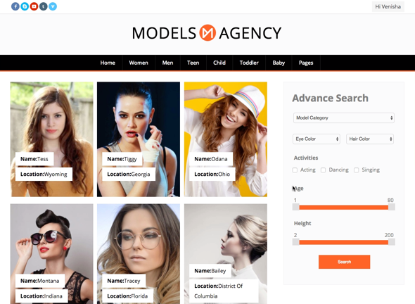 Models - Specially Designed Wordpress Theme for Model Agencies - Business Corporate